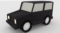 Car Hummer lowpoly 3D Model