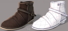 Shoes cartoonV17 3D Model