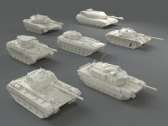 Tanks7 pieces – part-2 3D Model