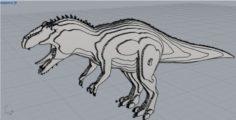 Tyrannosaurus rex – serial plane 3D Model