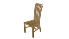 Chair wooden High poly made in Blender 3D 3D Model