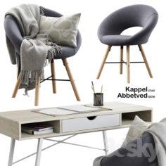 Jusk / Kappel Chair + Abbetved Table                                      3D Model