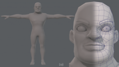 Base mesh man character V07 3D Model