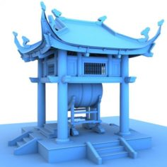 Drum tower of vietnam 3D Model
