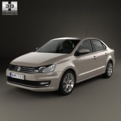 Volkswagen Polo Highline sedan 2015 3D Model