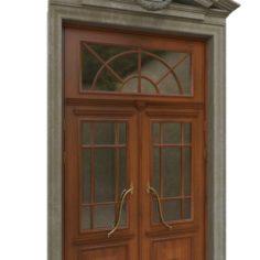 Entrance classic door 04 3D Model