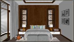 Bedroom young 3D Model
