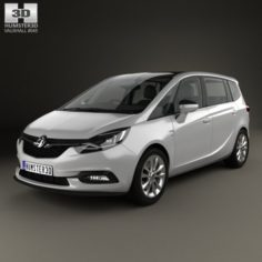 Vauxhall Zafira C Tourer with HQ interior 2016 3D Model