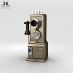 Gray Telephone Pay Station 3D Model