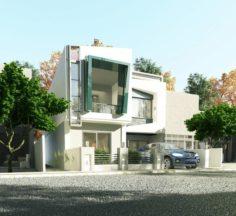 MV-I Modern House 3D Model