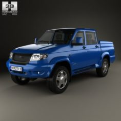 UAZ Patriot 23632 Pickup 2013 3D Model