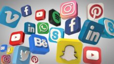 Social Media Icons 3D Model