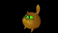 AngryCat 3D Model