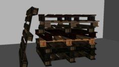 Palet Sheep Wood 3D Model