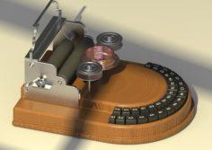 Circle typewriter 3D Model