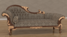 Baroque sofa 3D Model