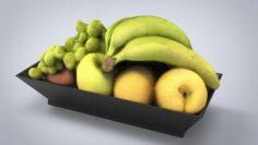 Fruit Plate model 3D Model