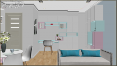 Apartment living young 3D Model