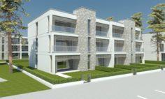 Beach Apartment Building Type 2 3D Model