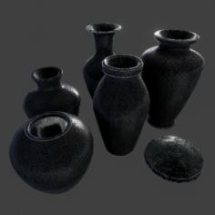 PBR – Urn Set 3 3D Model