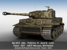 Panzer VI – Tiger – 007 – Late Production 3D Model