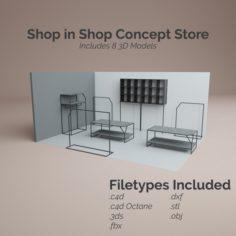 Shop in Shop Store 3D Model