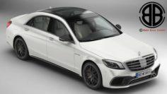 Mercedes S Class AMG S63 2018 3D Model