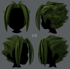3D Hair style for boy V29 3D Model