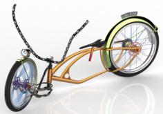 U-BiKe DESIGN Low Rider BIKE Free 3D Model