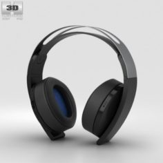 Sony PlayStation 4 Platinum Wireless Headset 3D Model