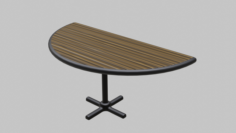 Restaurant Semi Circle Table 3D Model