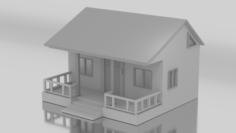 Modern 3D House Free 3D Model