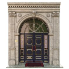 Entrance classic door 3D Model