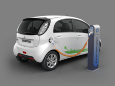 Mitsubishi MIEV electric car 3D Model