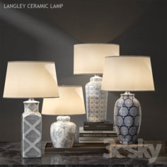 Pottery barn LANGLEY CERAMIC LAMP                                      3D Model