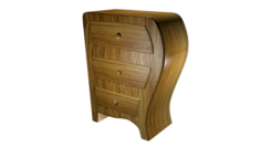 Bedside table High poly made in Blender 3D 3D Model
