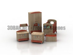 MIBB trenino childrens room 3D Collection