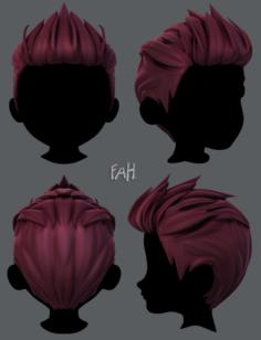 3D Hair style for boy V28 3D Model
