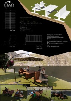 360 degree BENCH 3D Model