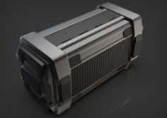 Sci-fi military container Free 3D Model