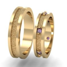 Fashion wedding ring 3D Model