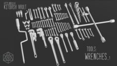 Kitbash Vault Tools Wrenches 3D Model