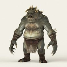 Game Ready Fantasy Beast 3D Model