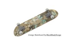Grunge Style Skateboard 3D Model