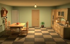 Classic Kitchen 3D Model