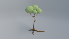 Polygonal tree 3D Model
