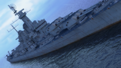 USS Montana BB-67 with F4F 3D Model