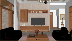 Livingroom tropical 3D Model