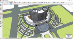 Sketchup Hotel H2 3D Model