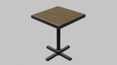 Restaurant Single Table 3D Model